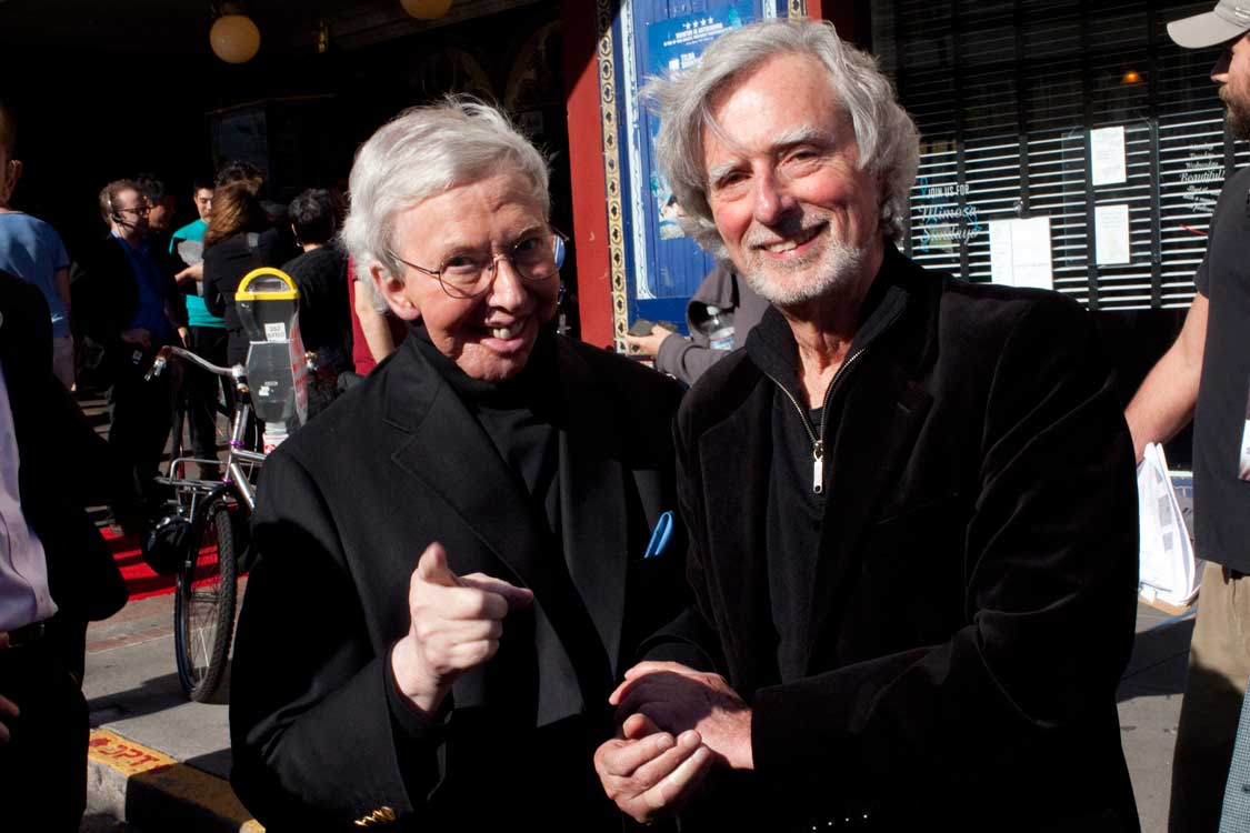 2010 Novikoff Award Recipient Roger Ebert with This Year's Founder's Directing Award Recipient Philip Kaufman
