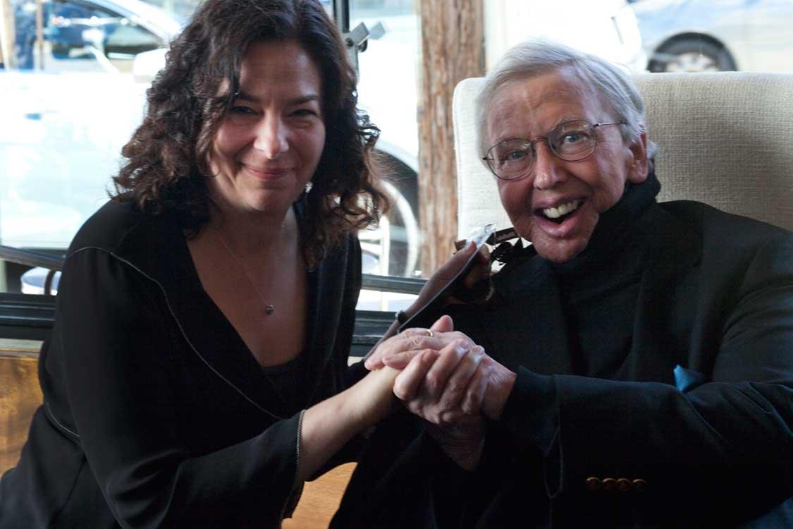SFFS Director of Programming Rachel Rosen with Roger Ebert