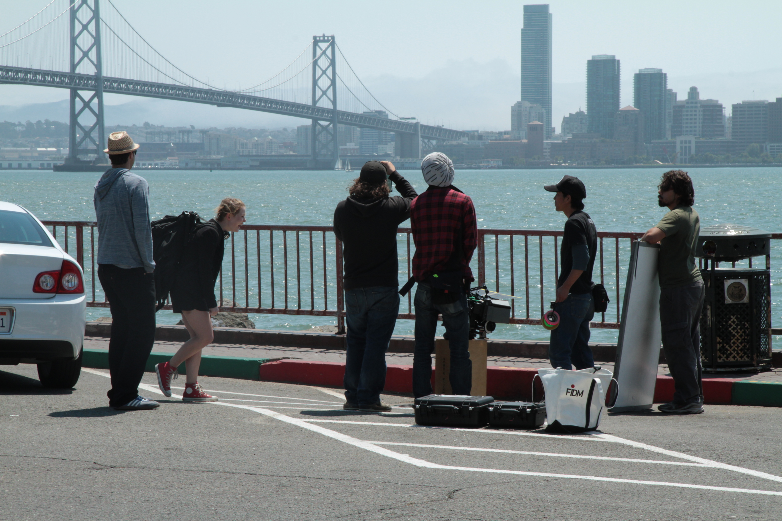 Along the Roadside crew in production