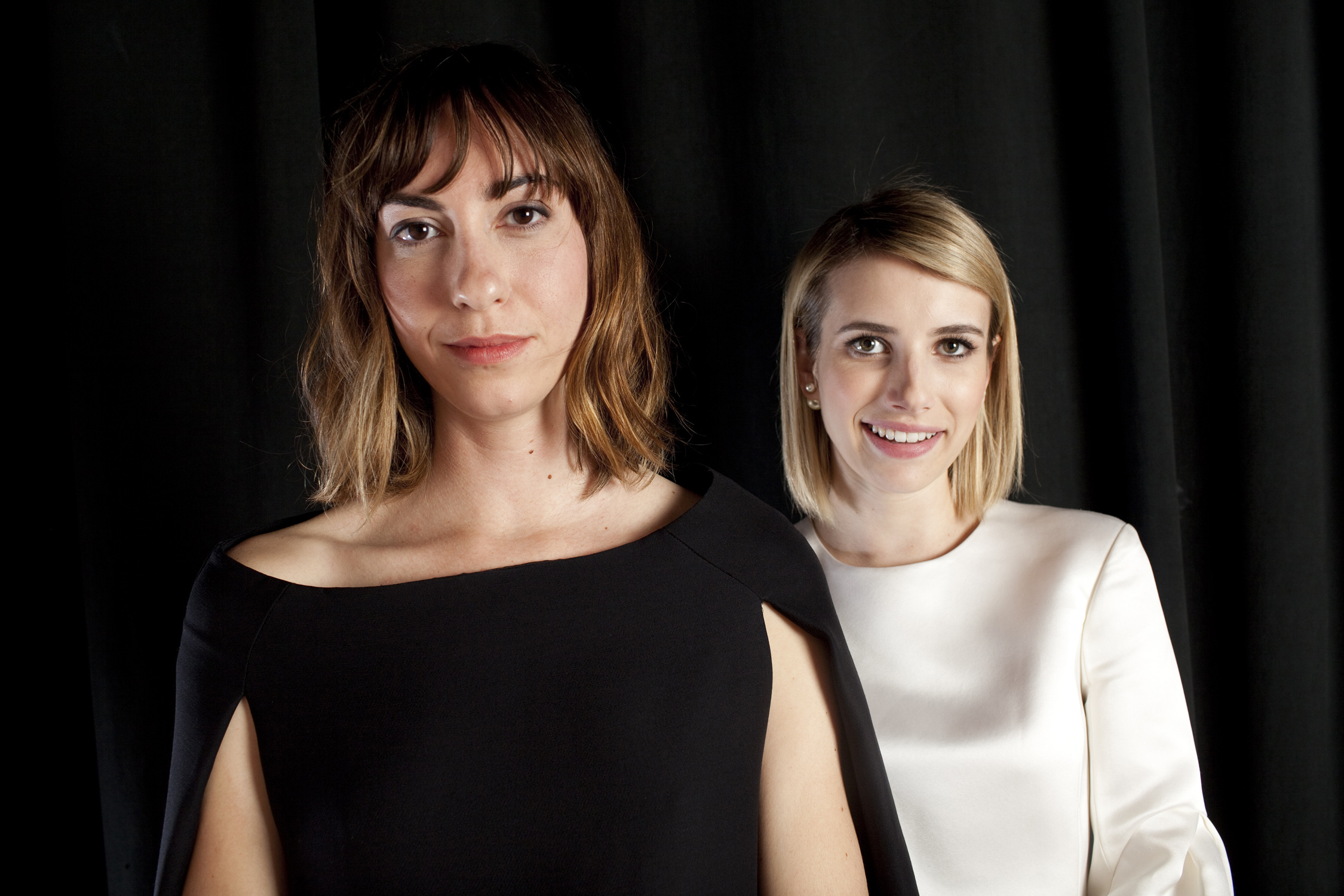 Director Gia Coppola and Emma Roberts