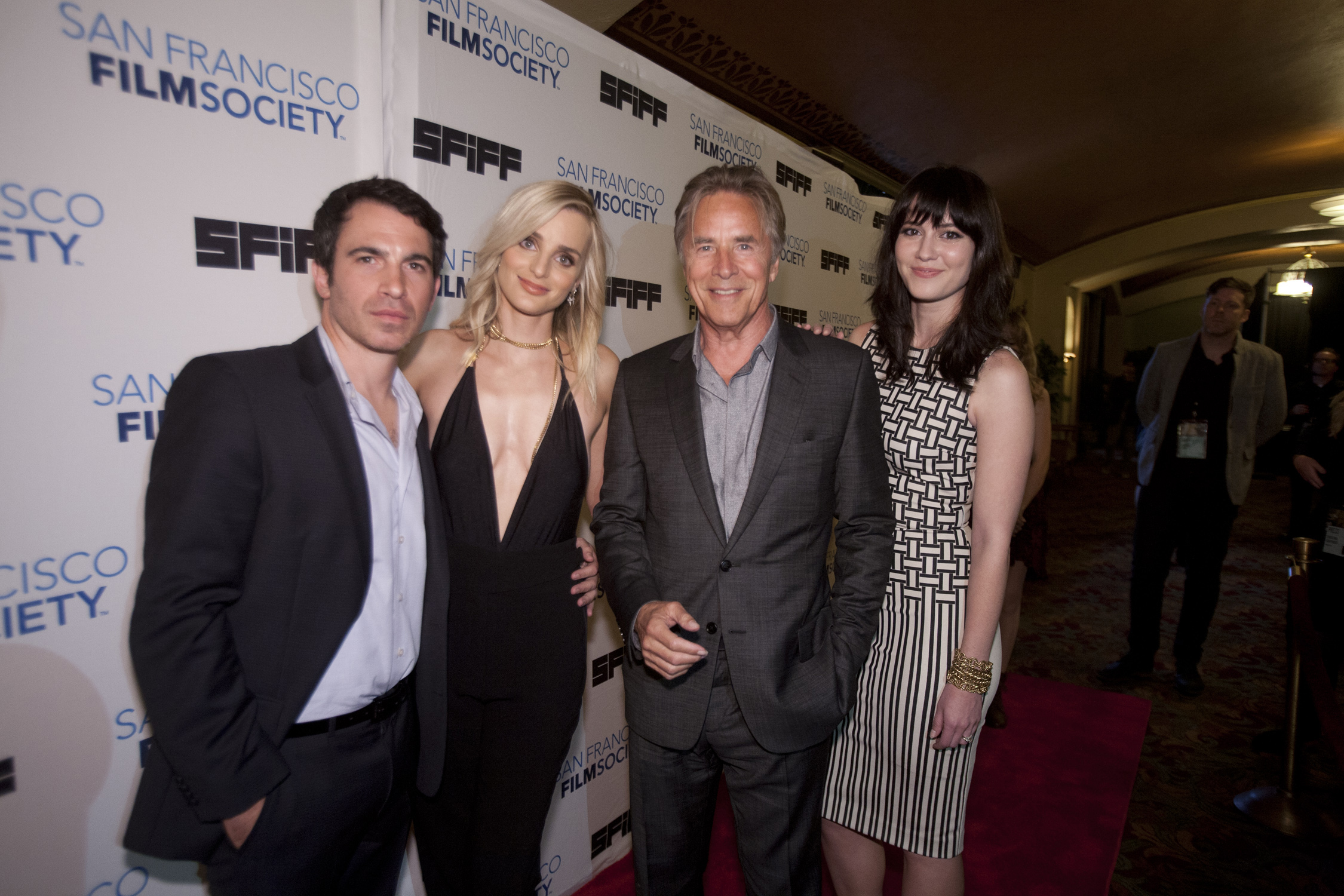Director Chris Messina with actors Katie Nehra, Don Johnson and Mary Elizabeth Winstead