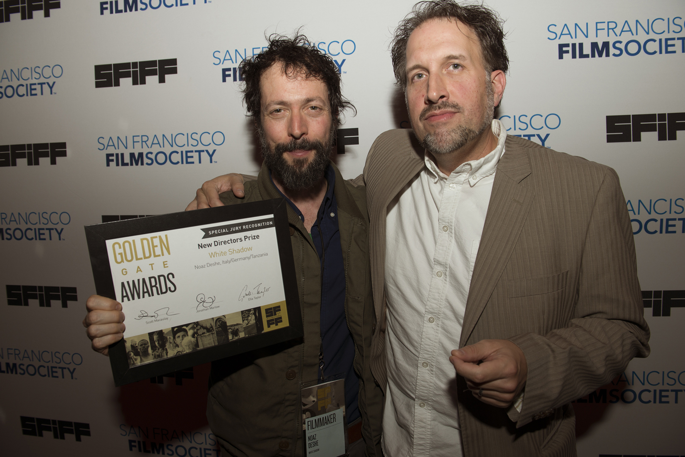 Noaz Deshe, director of WHITE SHADOW, and Jonathan Marlow