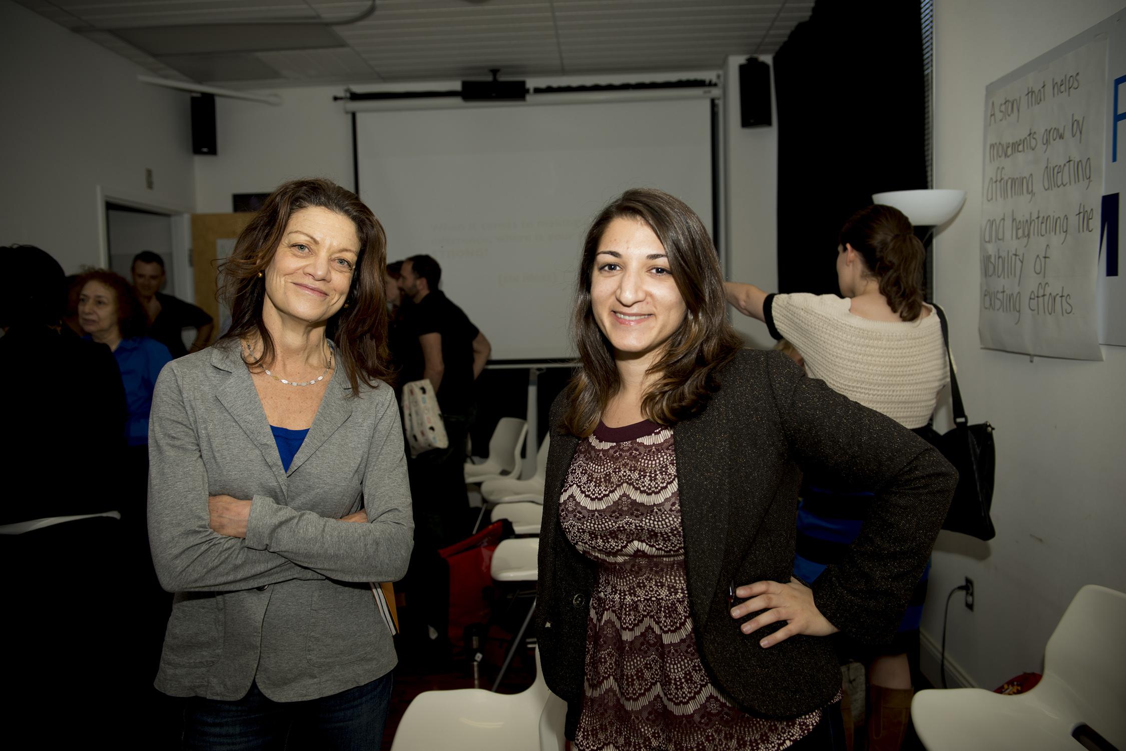 Ellen Schneider and Shaady Salehi