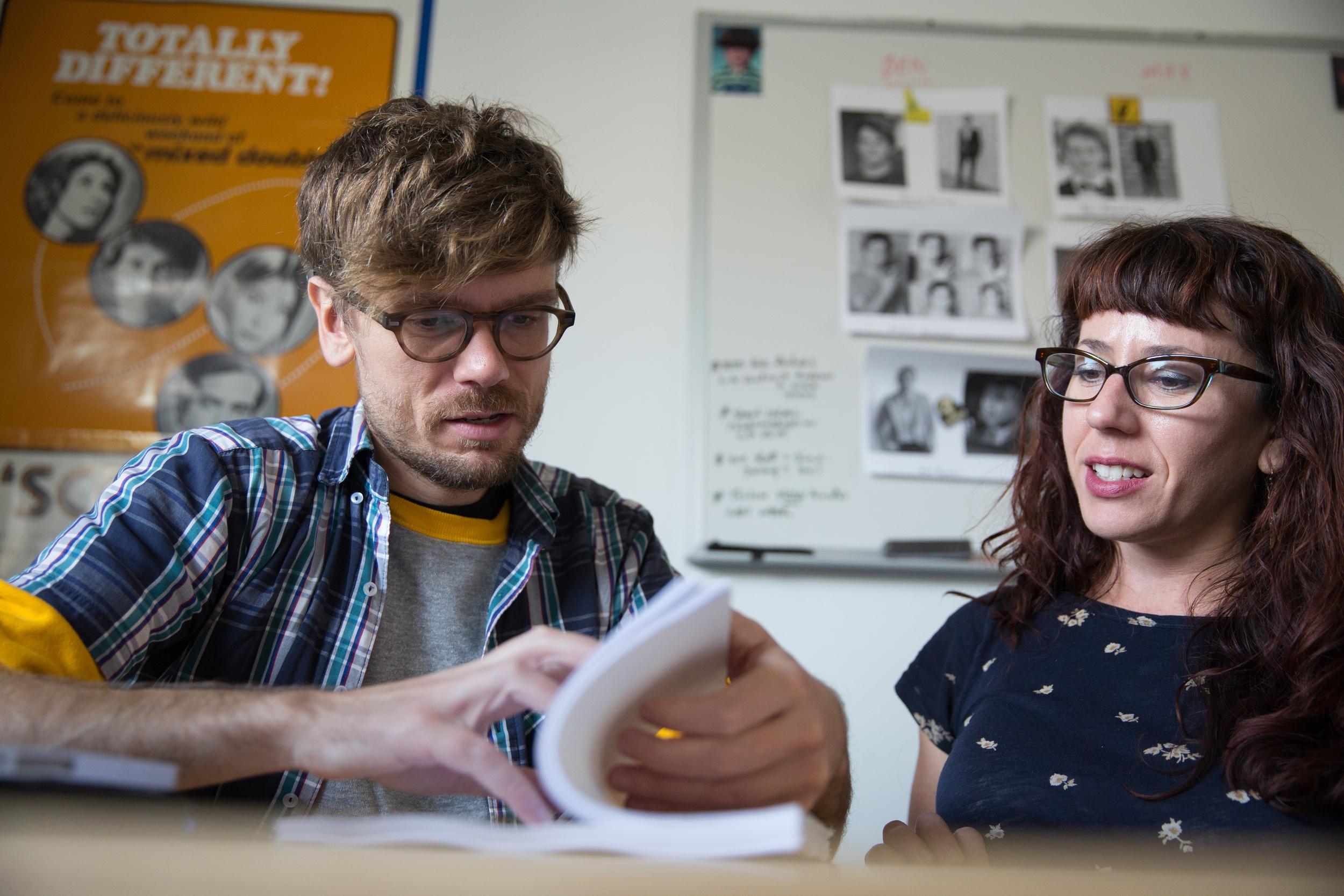 Travis Mathews with FilmHouse Manager Amanda Todd. Photo by Erin Lubin.
