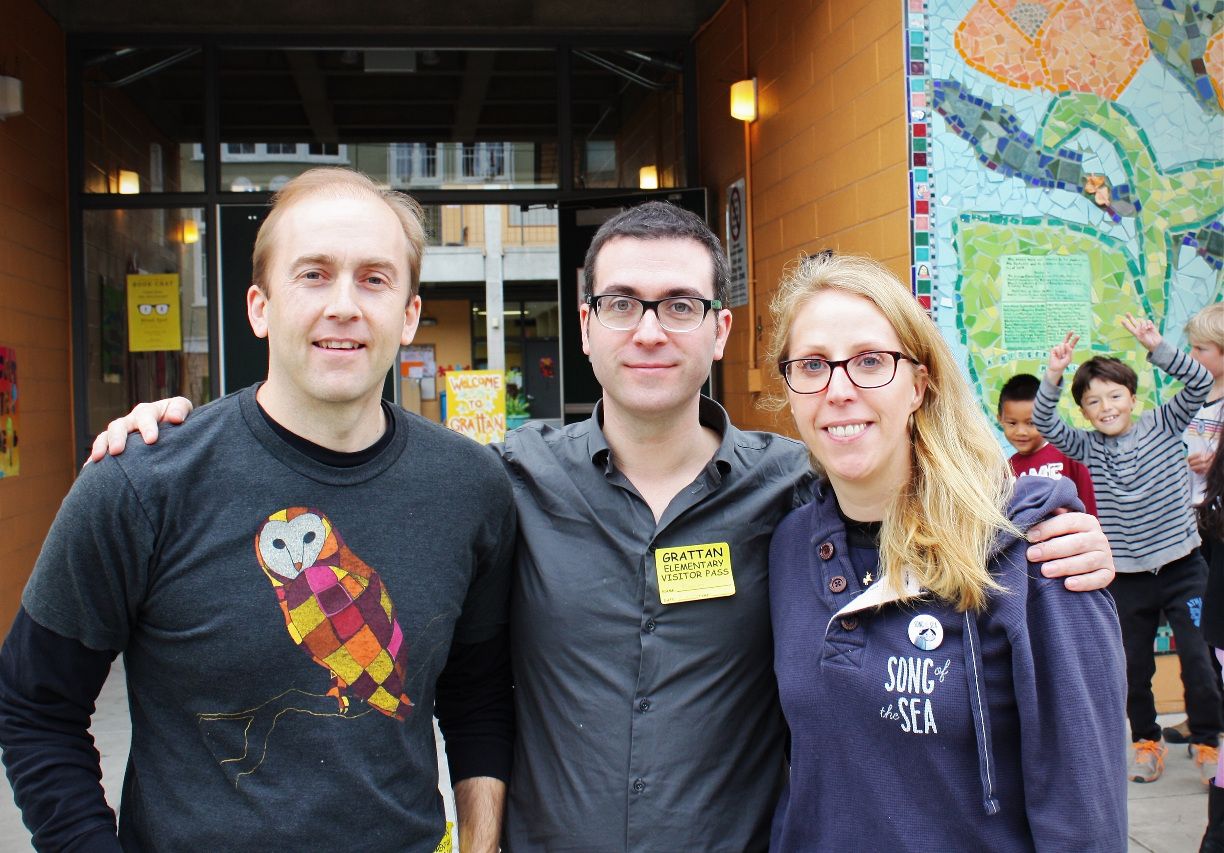 SFFS Youth Education Program Manager Keith Zwölfer,Moore & Moore's wife,Liselott Olofsson.