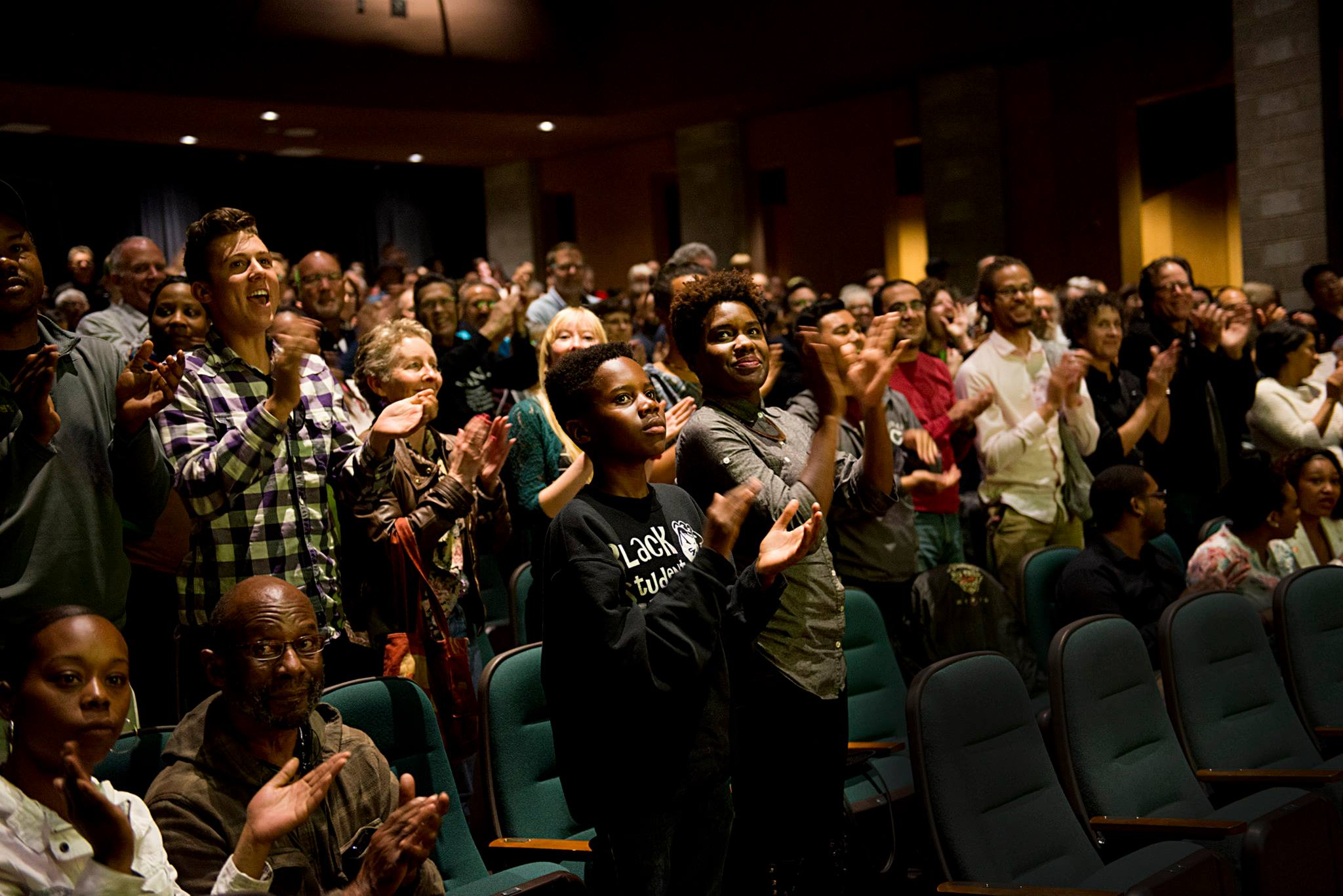 STANDING OVATION FOR ROMEO IS BLEEDING  AT EL CERRITO HIGH SCHOOL; PHOTO BY PAT MAZZERA