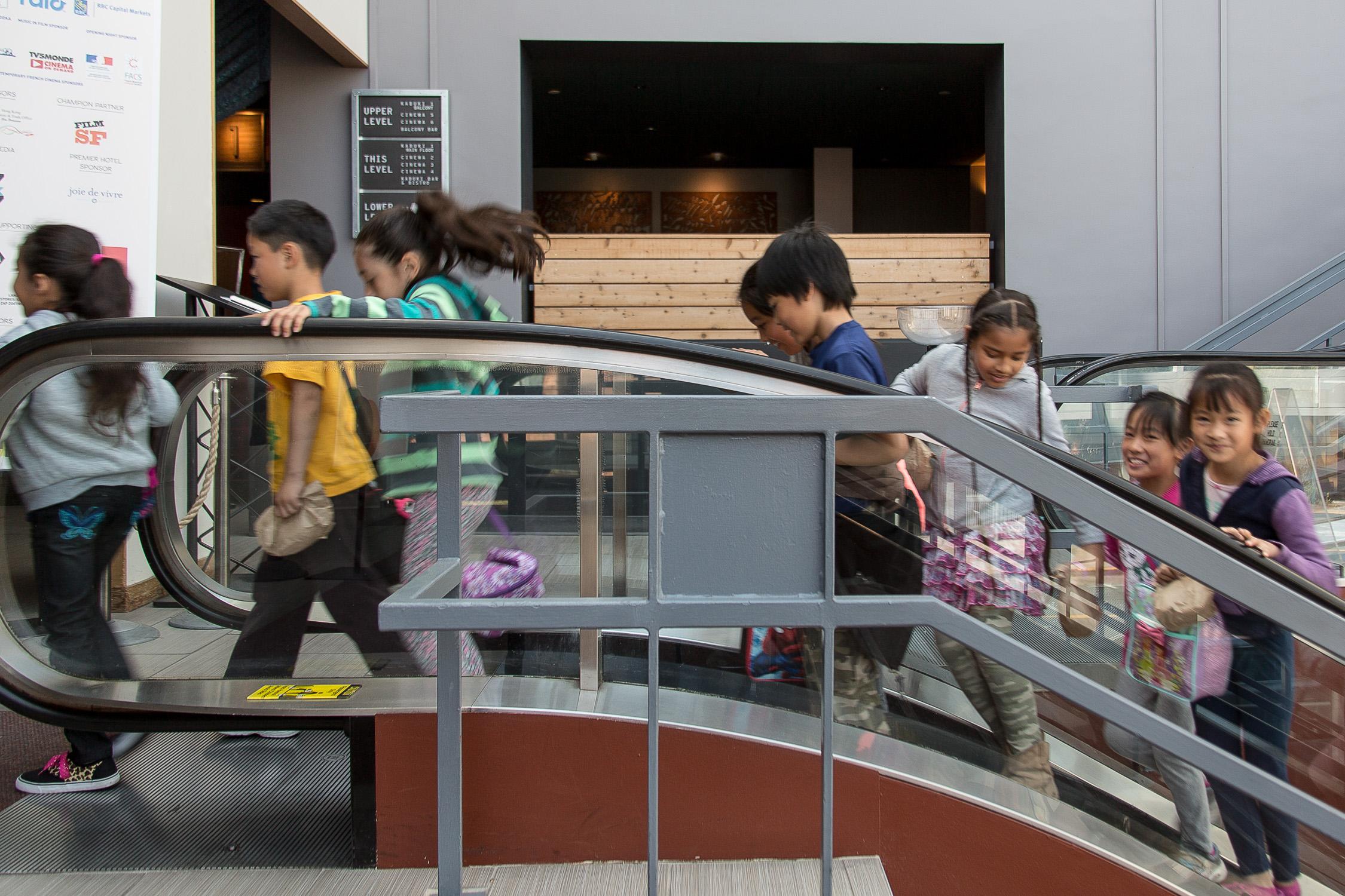 School children in Sundance Kabuki Cinemas