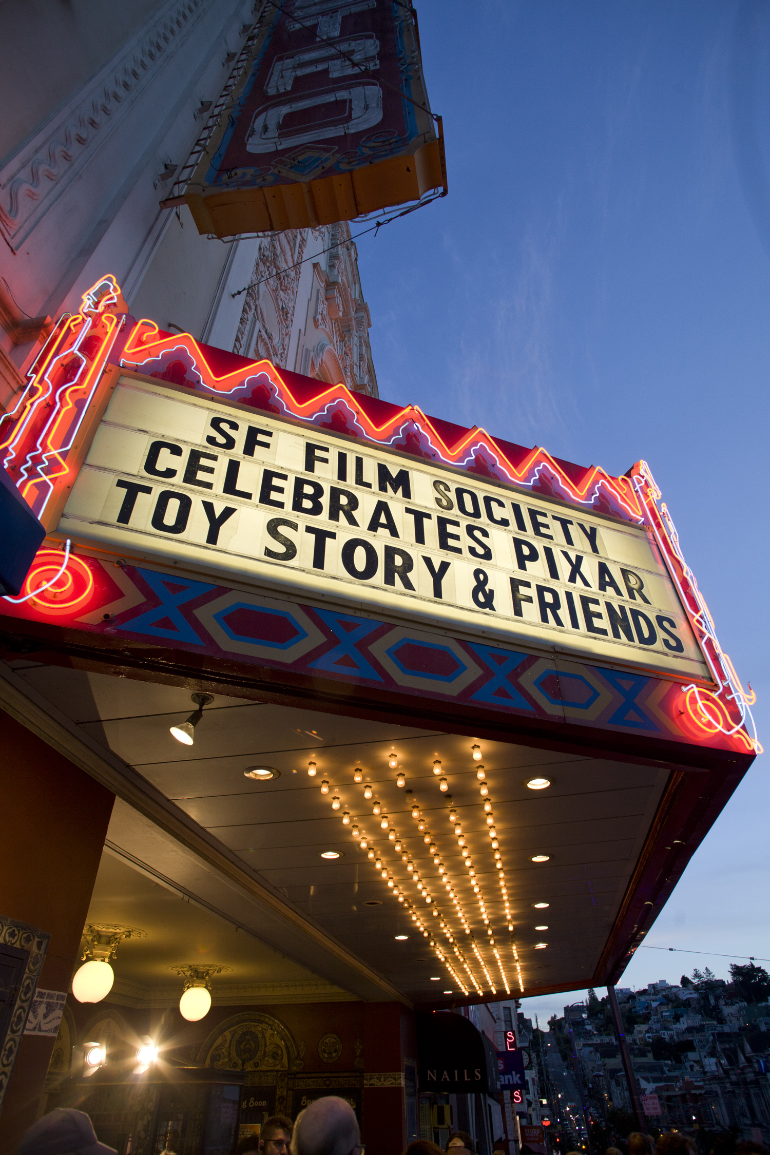 Castro marquee for our 20th Anniversary Celebration of Pixar