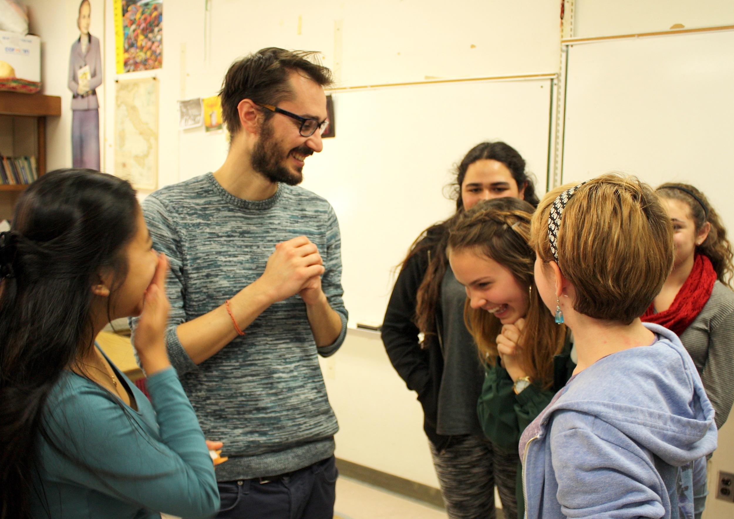 Filmmaker Matteo Bini at Lowell High School
