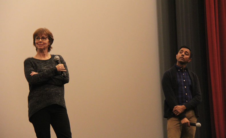 Producer Nicole Grindle and director Sanjay Patel