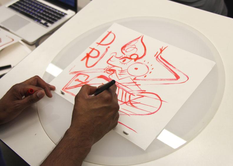 Drawing demo by Sanjay Patel
