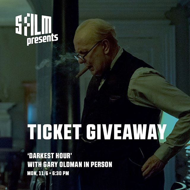 🎟 Win a pair of tickets to tomorrow's screening of 'Darkest Hour' with #Gary Oldman in person.  Rules:  1. ❤️ this post 2. Follow us (if you aren't already 😃) 3. Tag a friend you want to bring below in comments. (Tag as many as you want for more chances to win)  Contest ends tomorrow 11/6 at 1pm.  Screening is Mon, 11/6 • 6:30 pm at the Castro Theatre  #giveaway #wintickets #sf #sanfrancisco #oakland #berkeley #DarkestHour #KristinScottThomas #WinstonChurchill #JoeWright