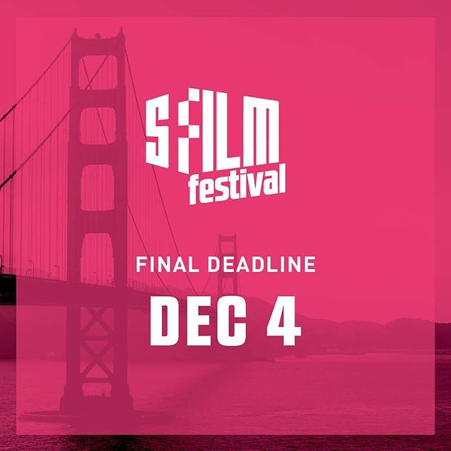 🎥 Only 3 weeks left to submit your film to the 2018 San Francisco International Film Festival! FINAL DEADLINE: Monday, December 4, 2017 ⇨ Visit sffilm.org for more information.⠀ ⠀ #SFFILMFestival #filmmaking