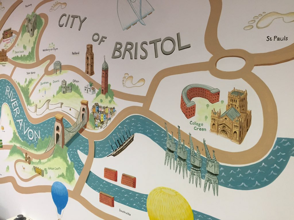 Map of Bristol at Blaise Western Court