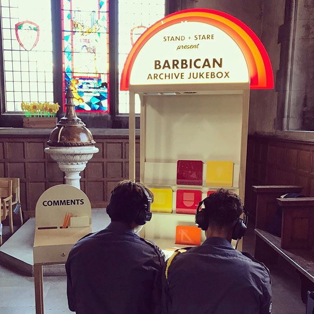 This weekend our Jukebox will be part of the The Barbican Archive Residency. A weekend of free talks, workshops, films and pop-up installations showcasing material from the Barbican's Archive as well as the collections from several guest London archives, exploring material relating to protest, experimental music, community video and much more. Find it on Level G. @barbicancentre #barbicanarchive #archive