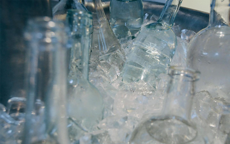Acid Etched Water Bottles
