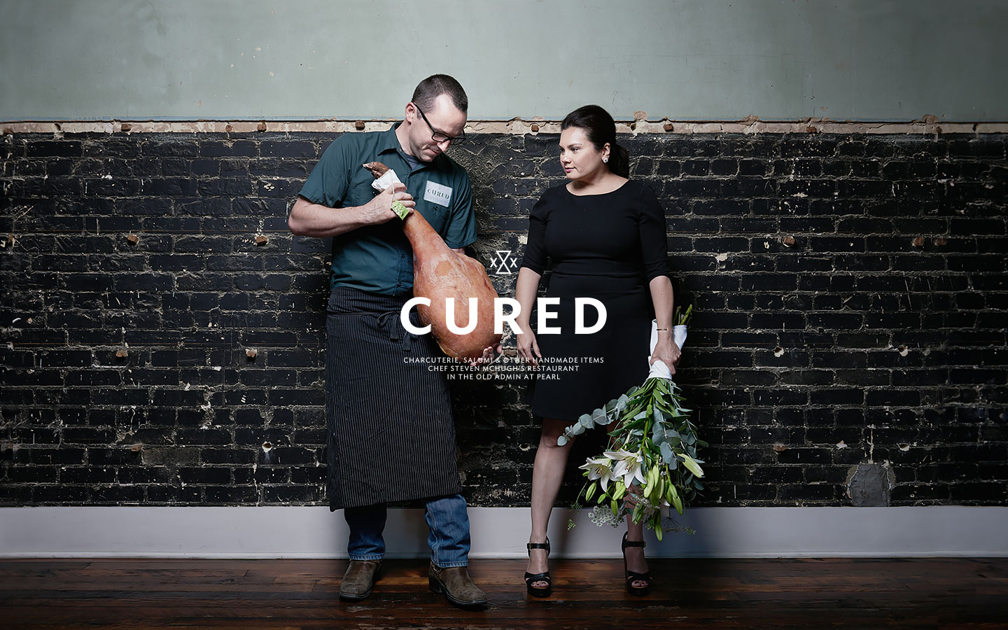 Brand photography of ChefSteven McHugh and his wife.