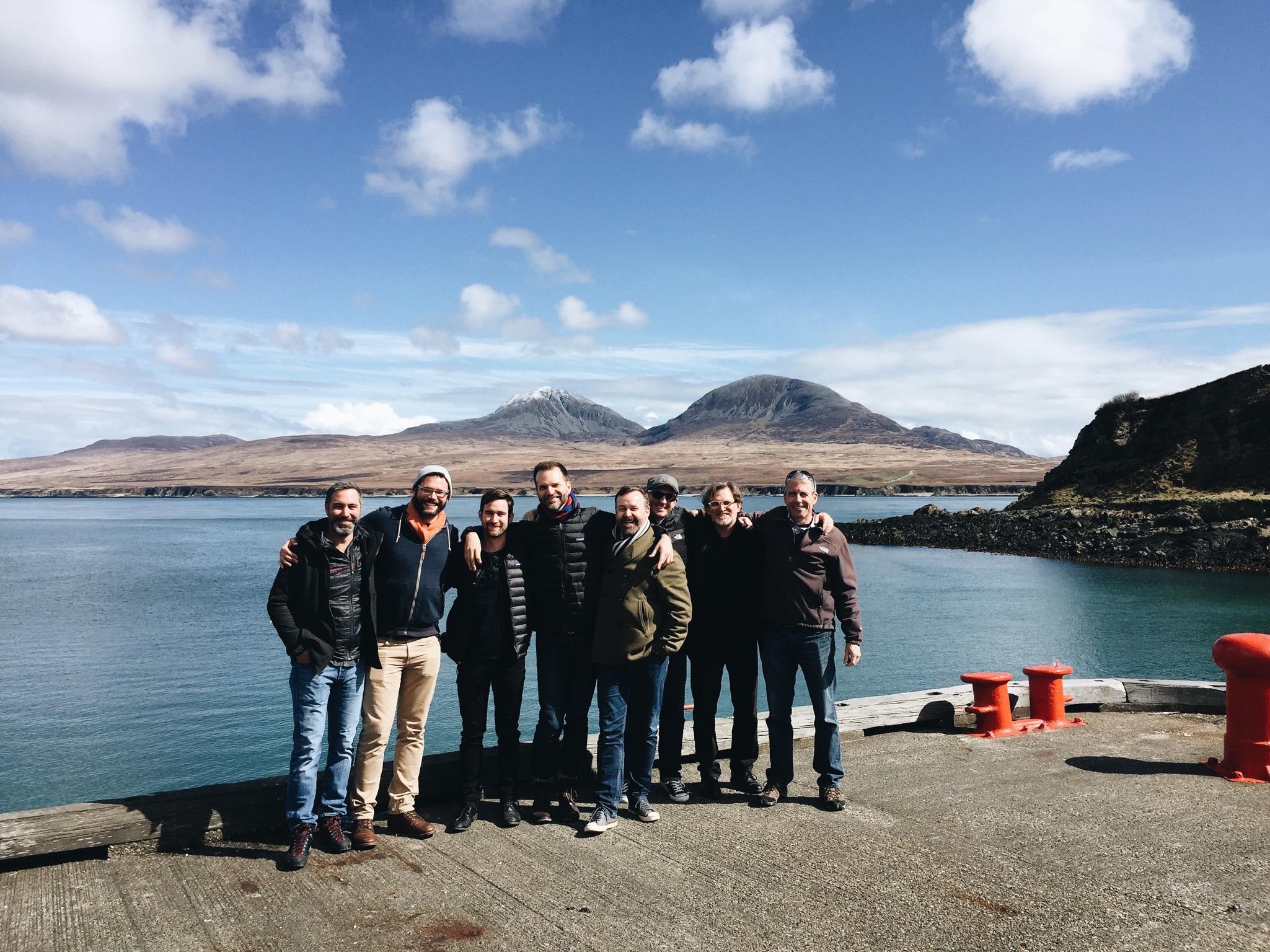 The Skerrol's Boys at our favorite distillery