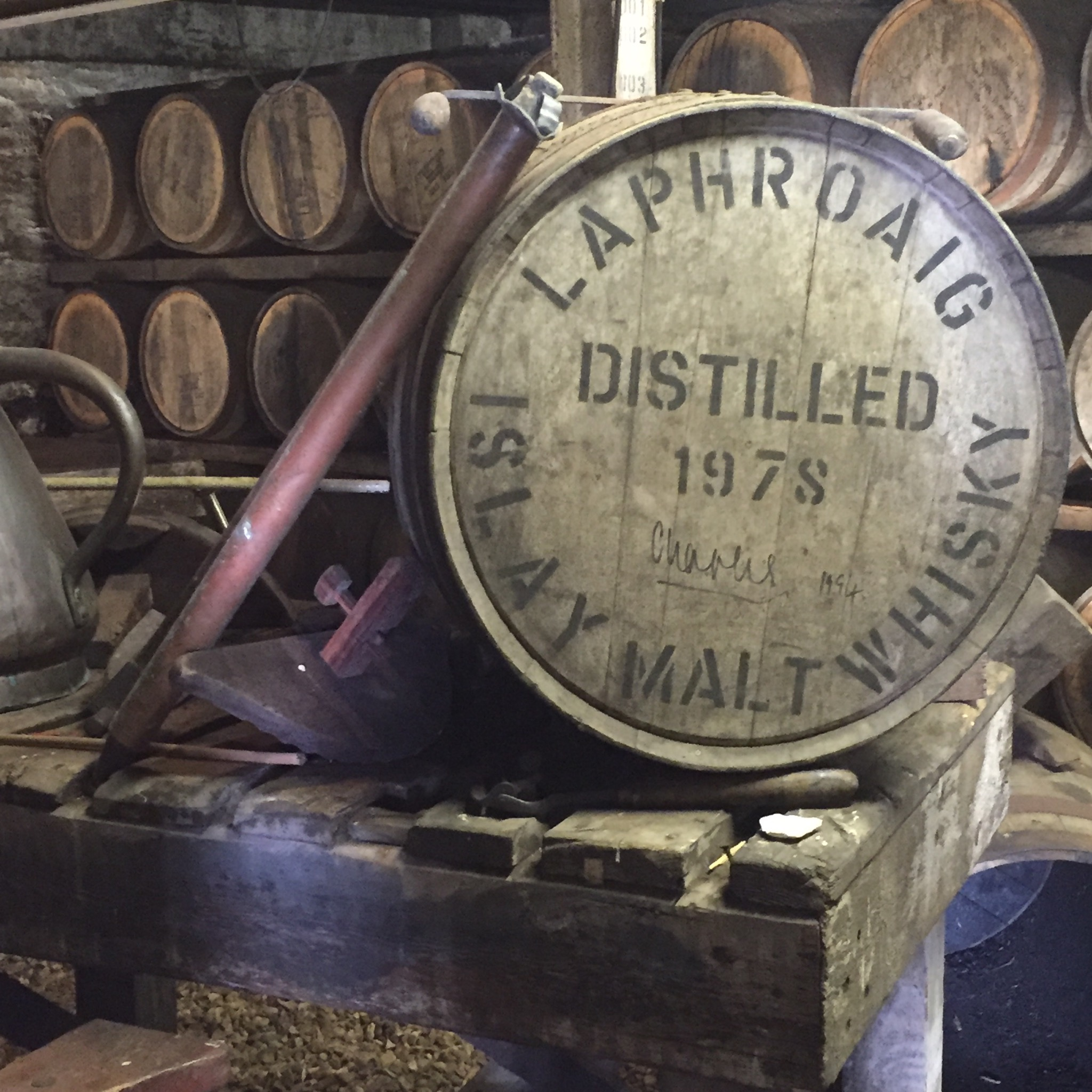 15 yr Laphroiag signed by Prince Charles