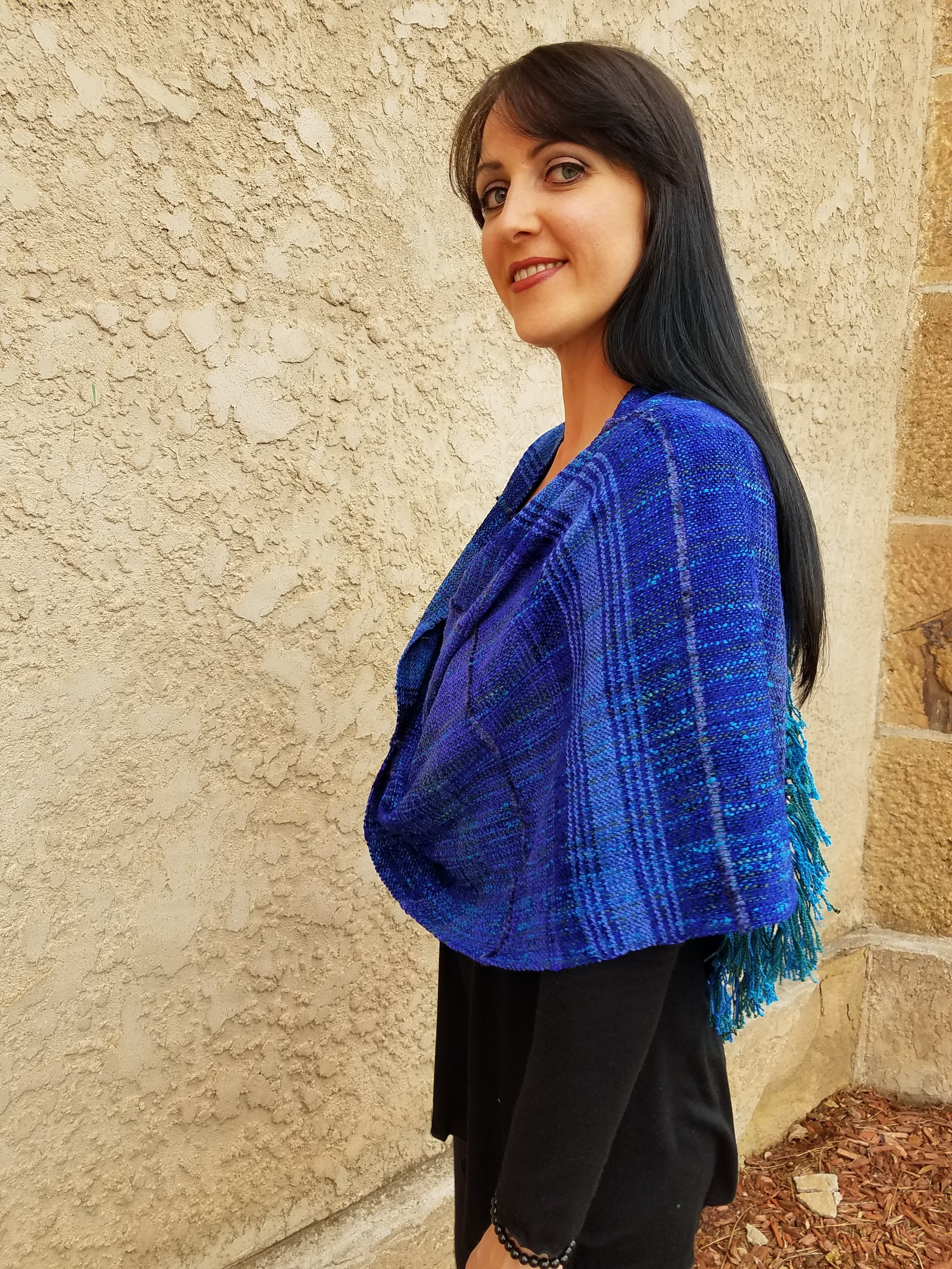 Royal Blue Infinity Wrap by Ceil  $335