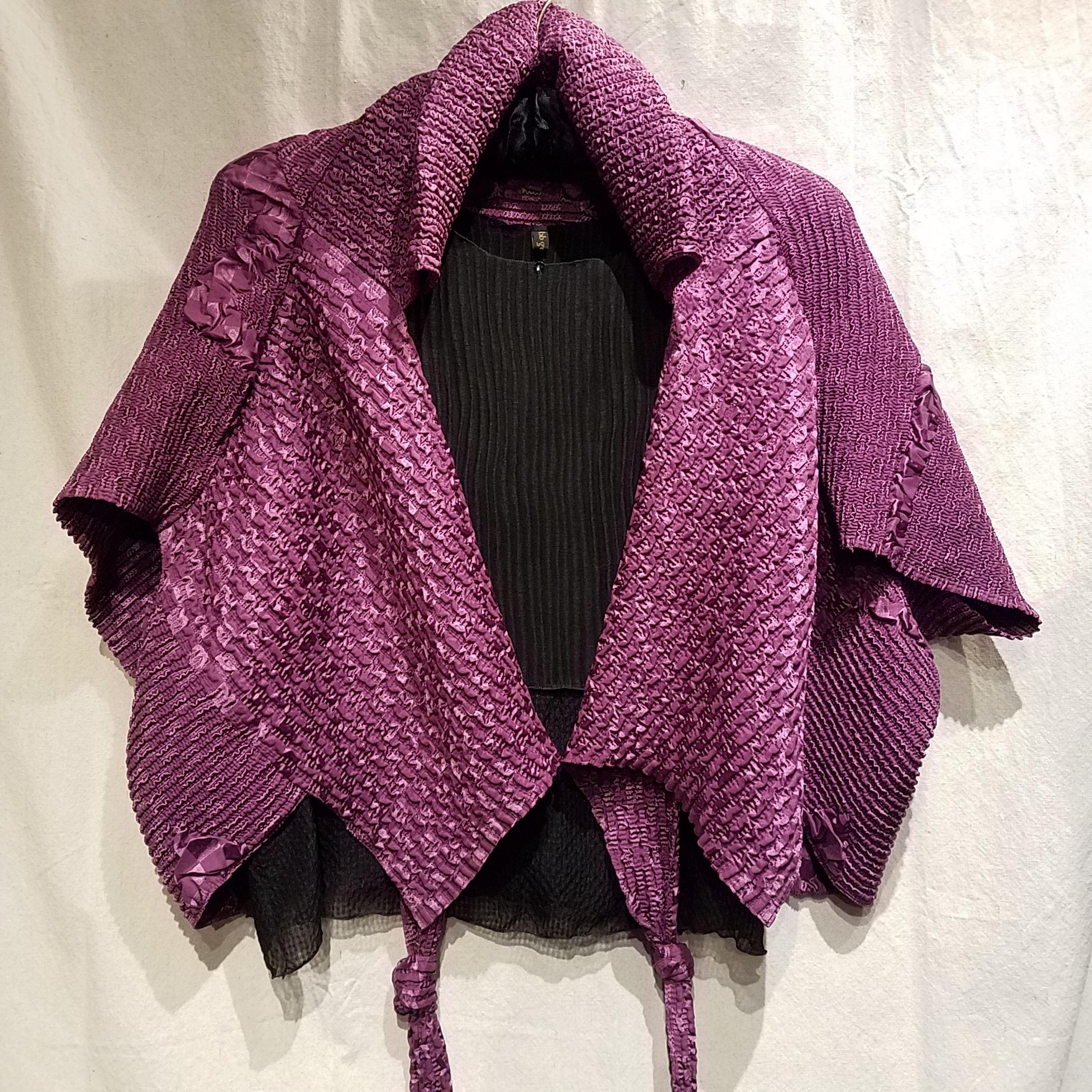"""Crinkle Jacket CC008 $280 """"Plum"""""""