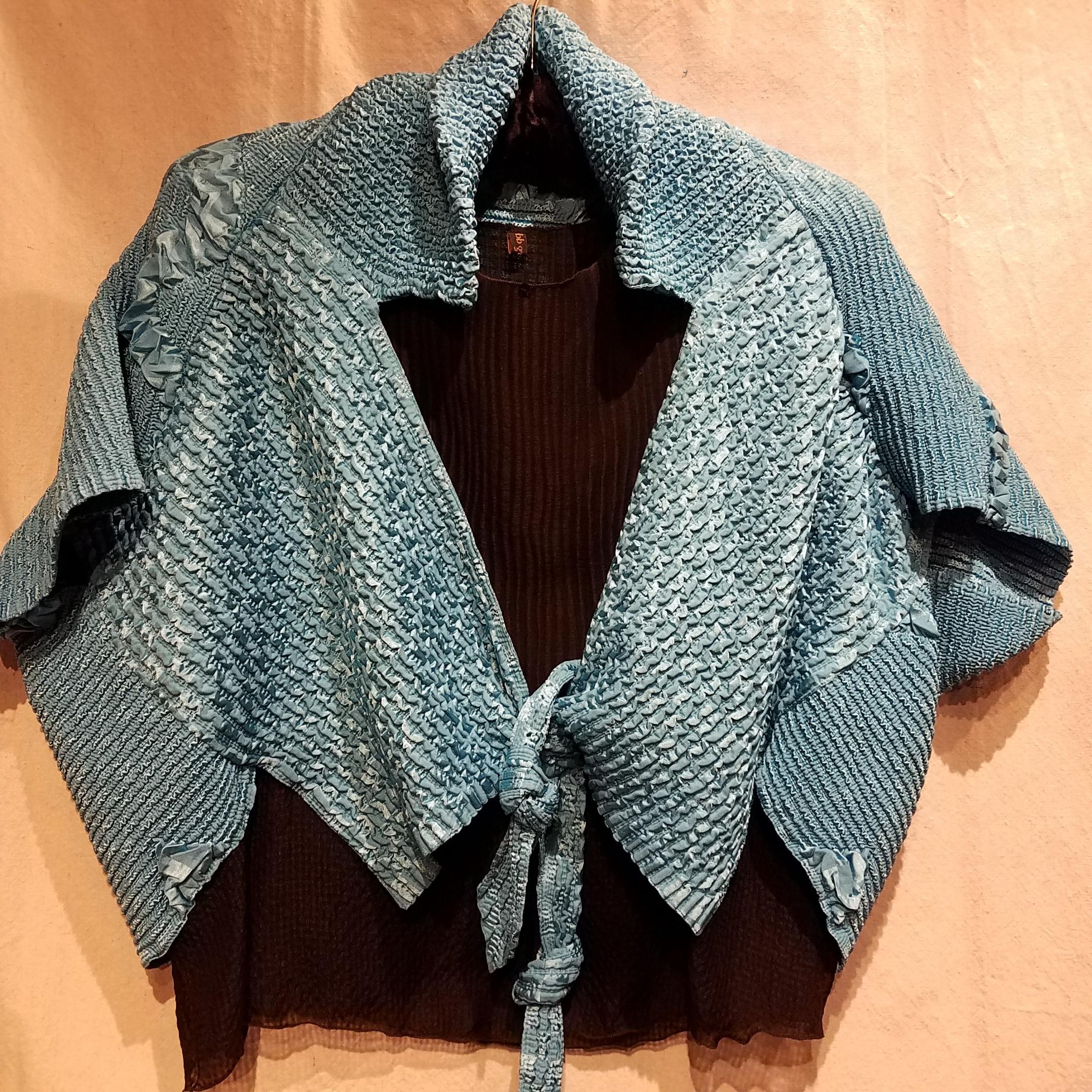 """Crinkle Jacket CC006 $280 """"Turquoise"""""""