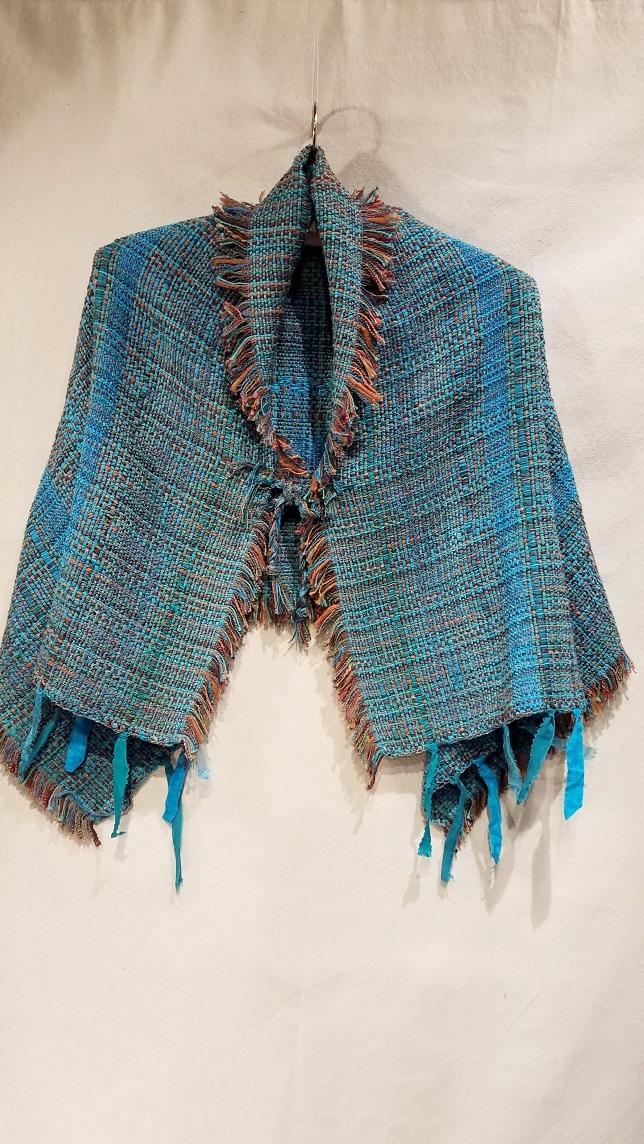"""Shoulder Wrap JBP4672 $310 """"Turquoise Textures"""""""