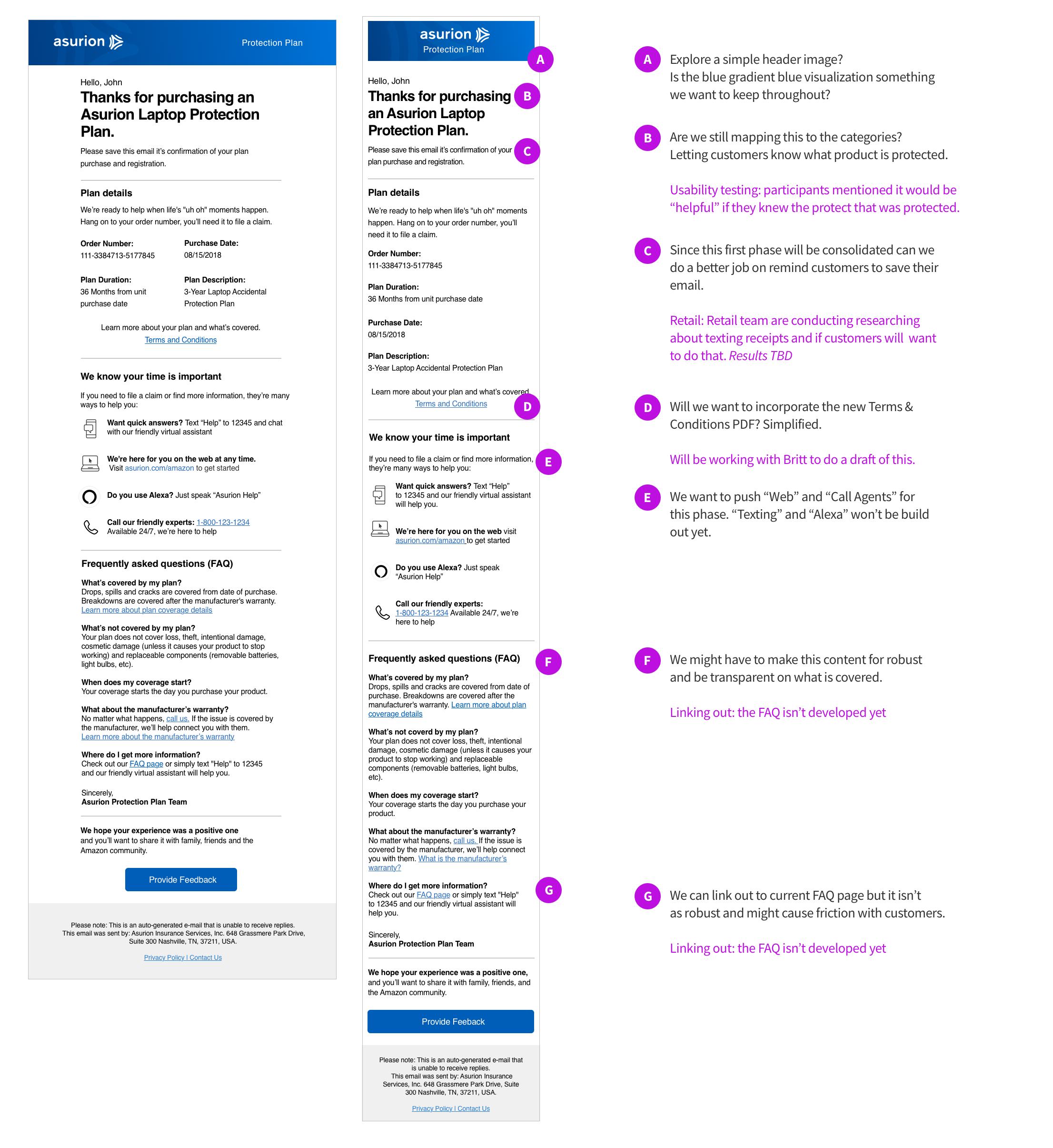Amazon Coverage Experience Redesign — delacruz DYNAMICS