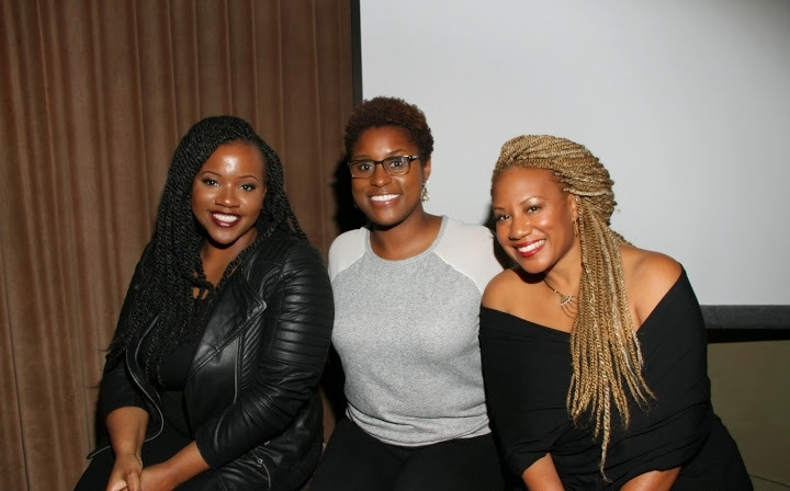 """Camila Crews (Strength of Nature Brand Manager),Issa Rae (Creator of """"Head Cases"""" & Author of """"The Misadventures of Awkward Black Girl"""")andFelicia Leatherwood (Celebrity Hair Stylist)"""