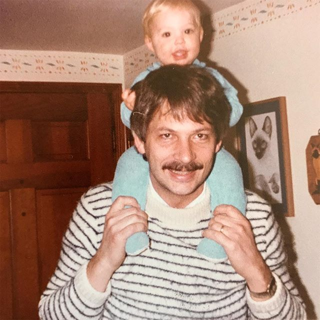 Me and dad circa 1983. Mustache game was solid! So thankful for this guy.