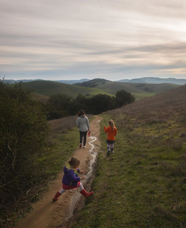 Puddle hopping in Helen Putnam with the girls this afternoon. Nice soft light and all the rain is making things super green again. #outsideisfree #dadlife #sonomacounty #petaluma