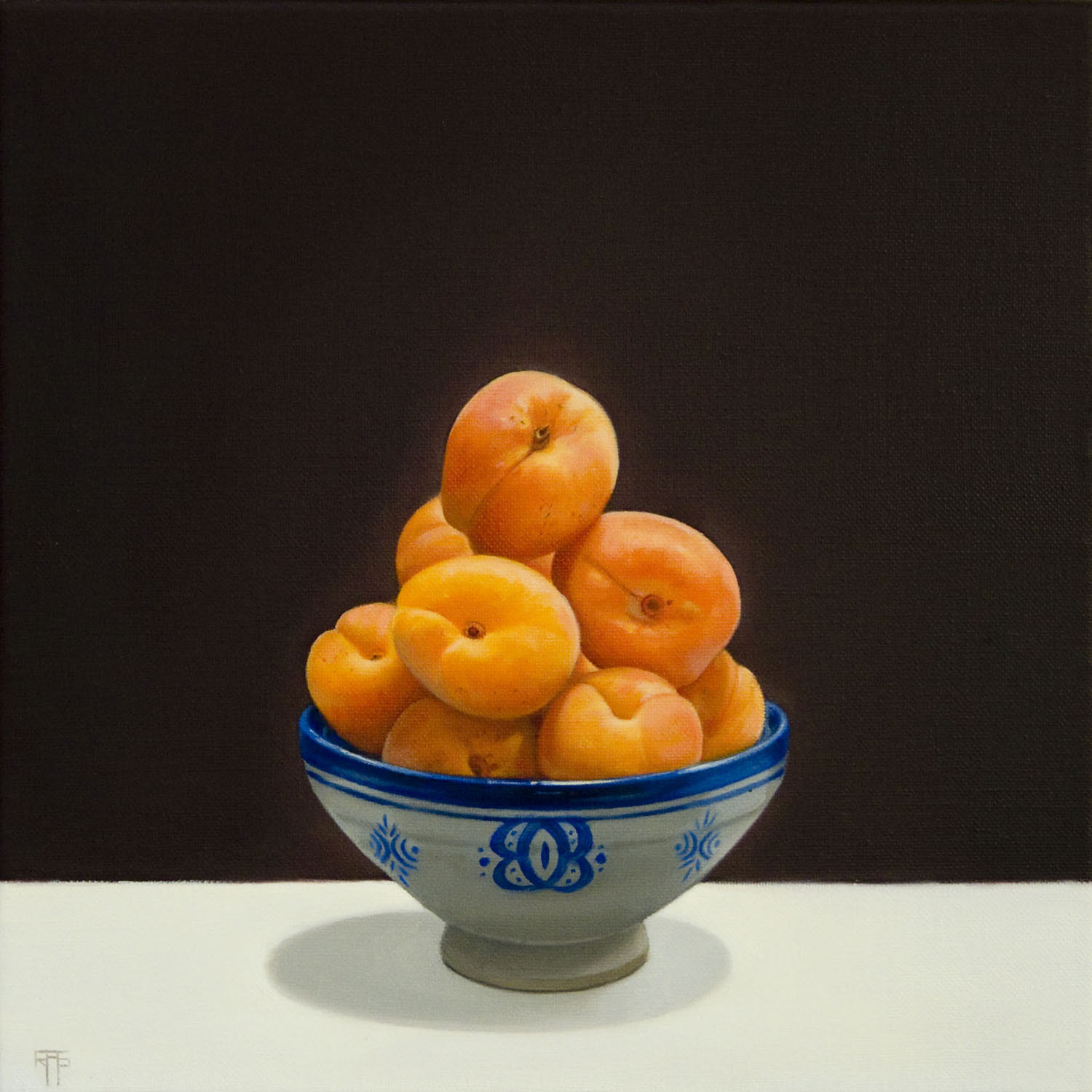 Apricots, Oil on Linen, 33x33cm   Private Collection
