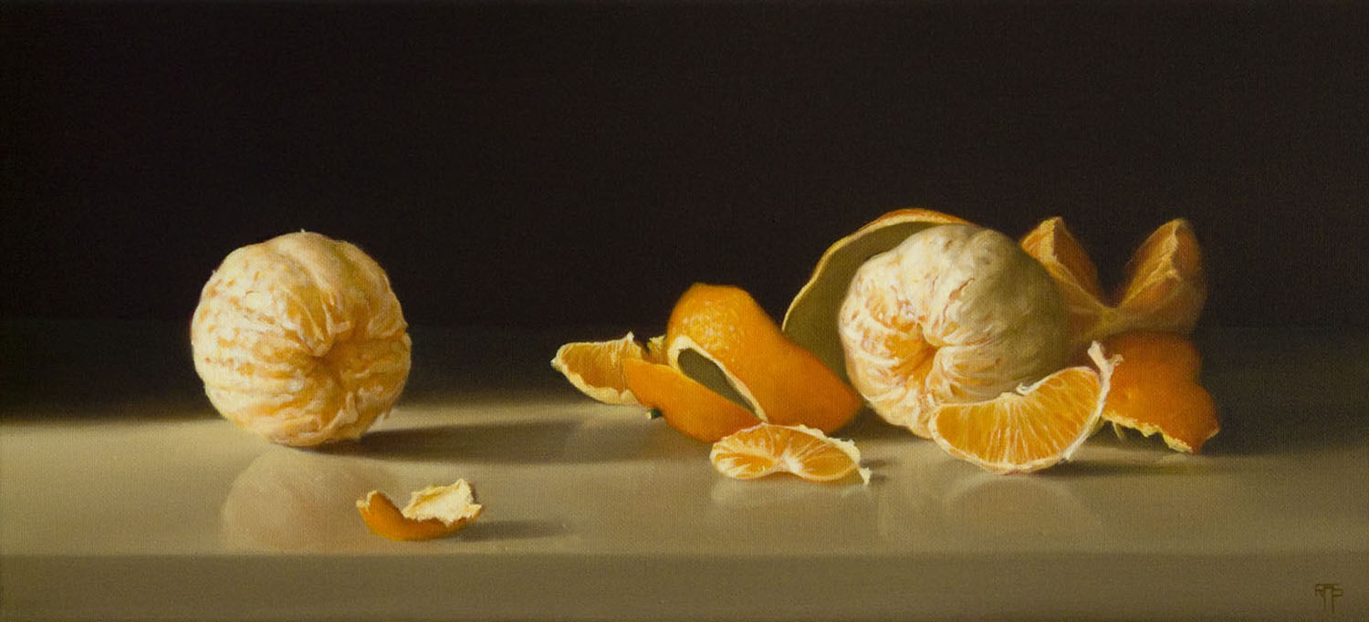 Oranges, Oil on Linen, 25x55cm  Private Collection