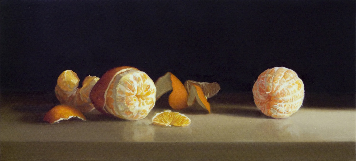 Oranges II, Oil on Linen, 25x55cm  Private Collection