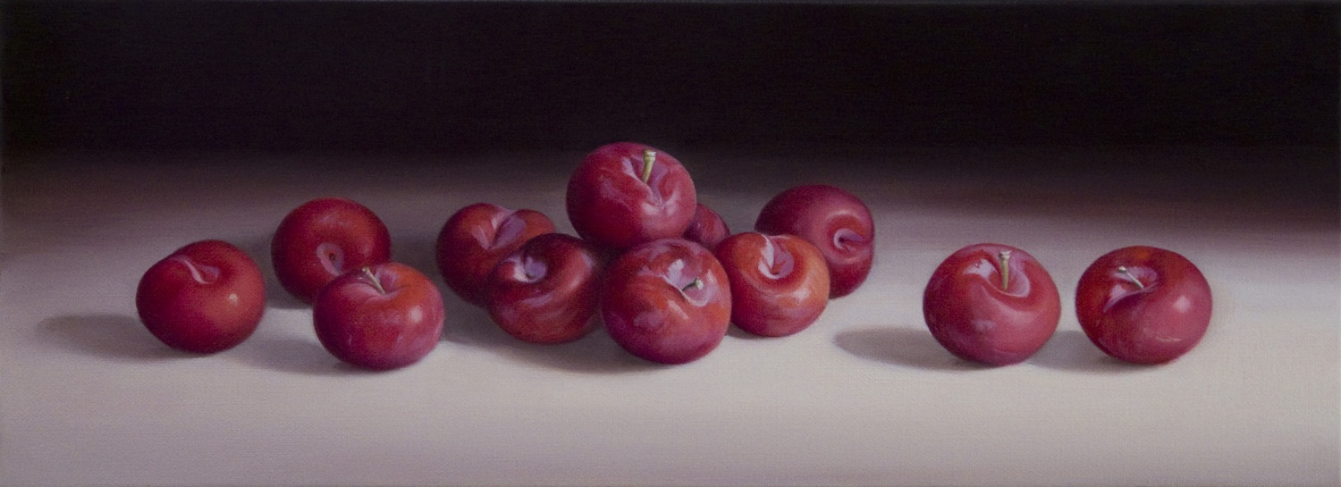 Plums, Oil on Linen, 20x55cm  Private Collection