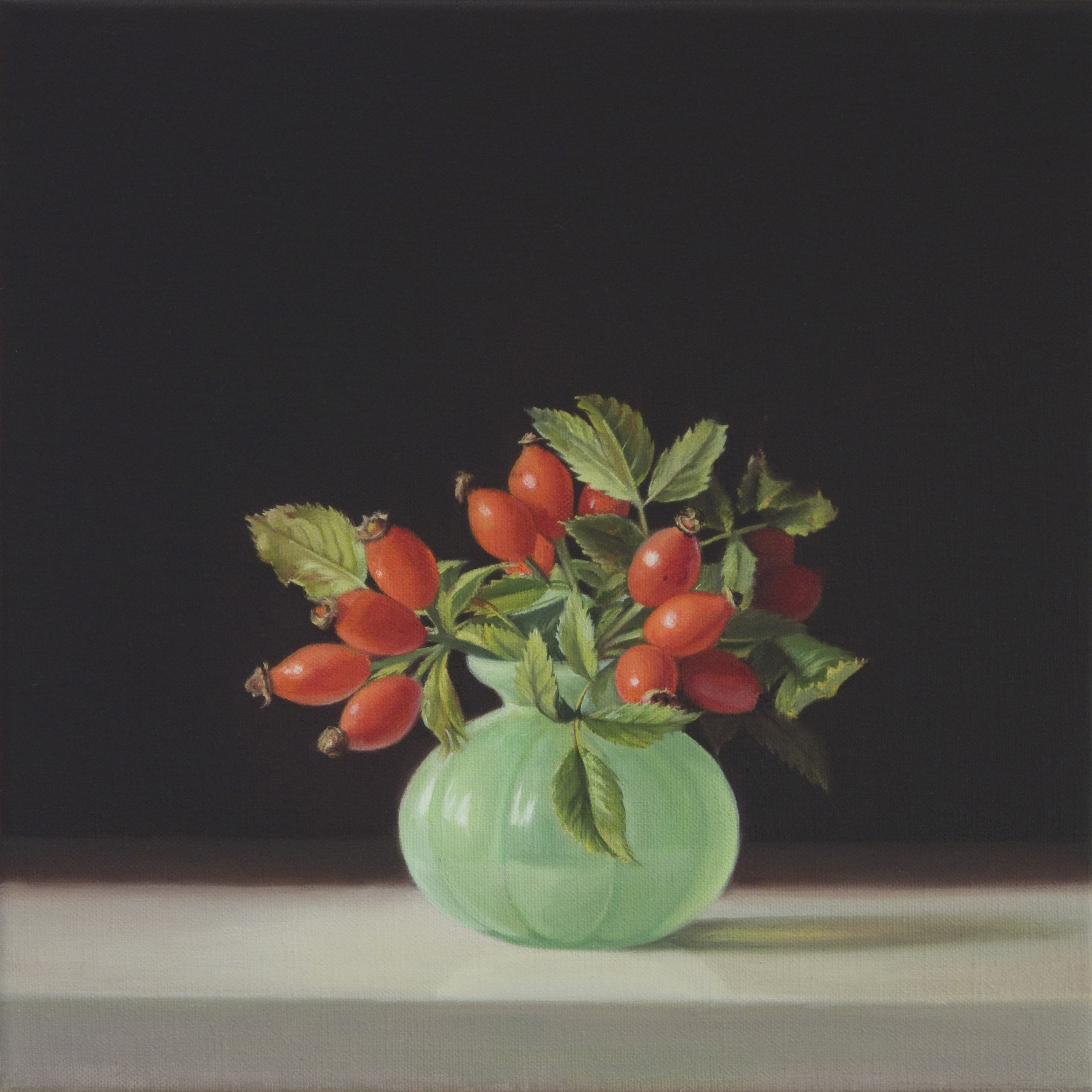 Rose buds, Oil on Linen, 30x30cm. Private Collection