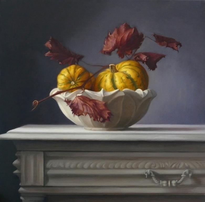 Pumpkins. 50x50cm. Oil on linen