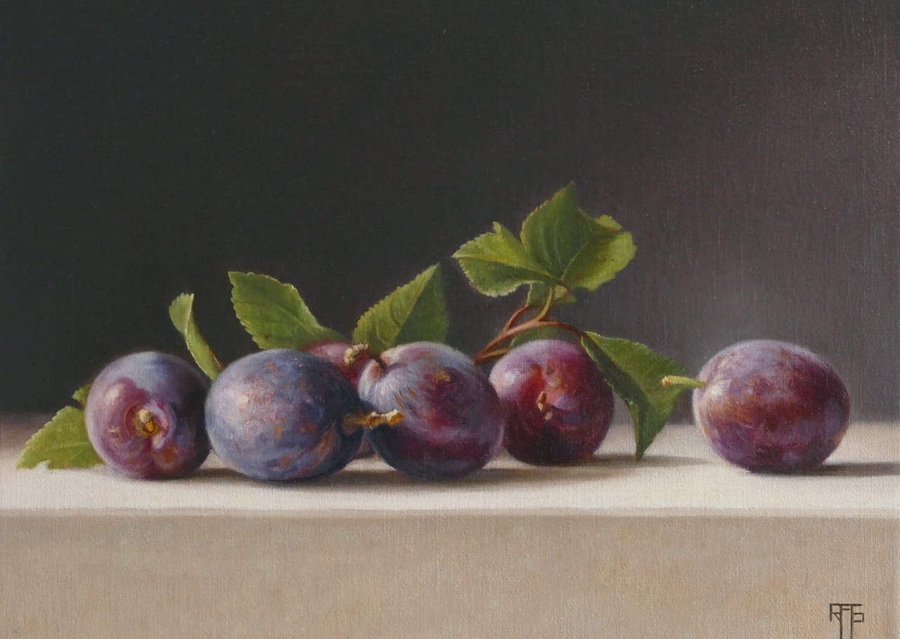 Plums. Oil on linen. 24x33cm. Private Collection