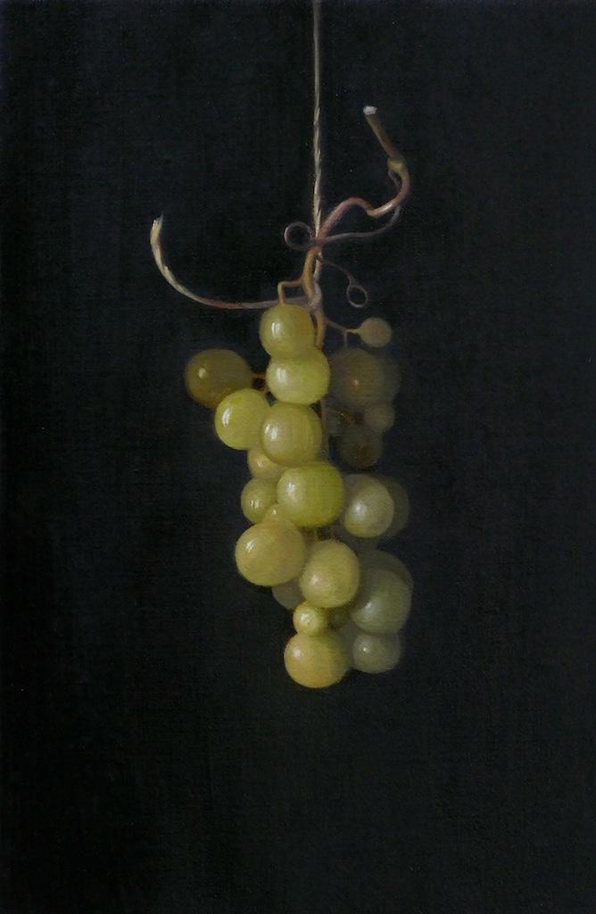 Grapes. Oil on linen. 30x20cm