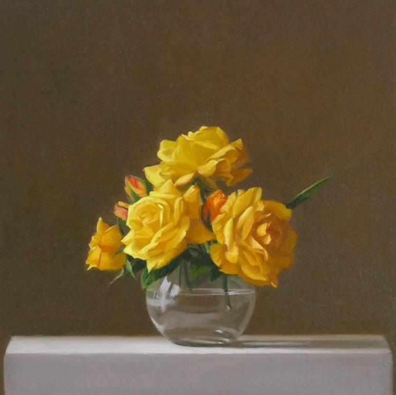 Yellow Roses. Oil on linen. 40x40cm