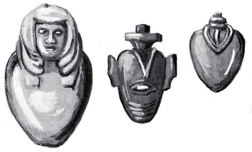 Illustrations of Egyptian artifacts