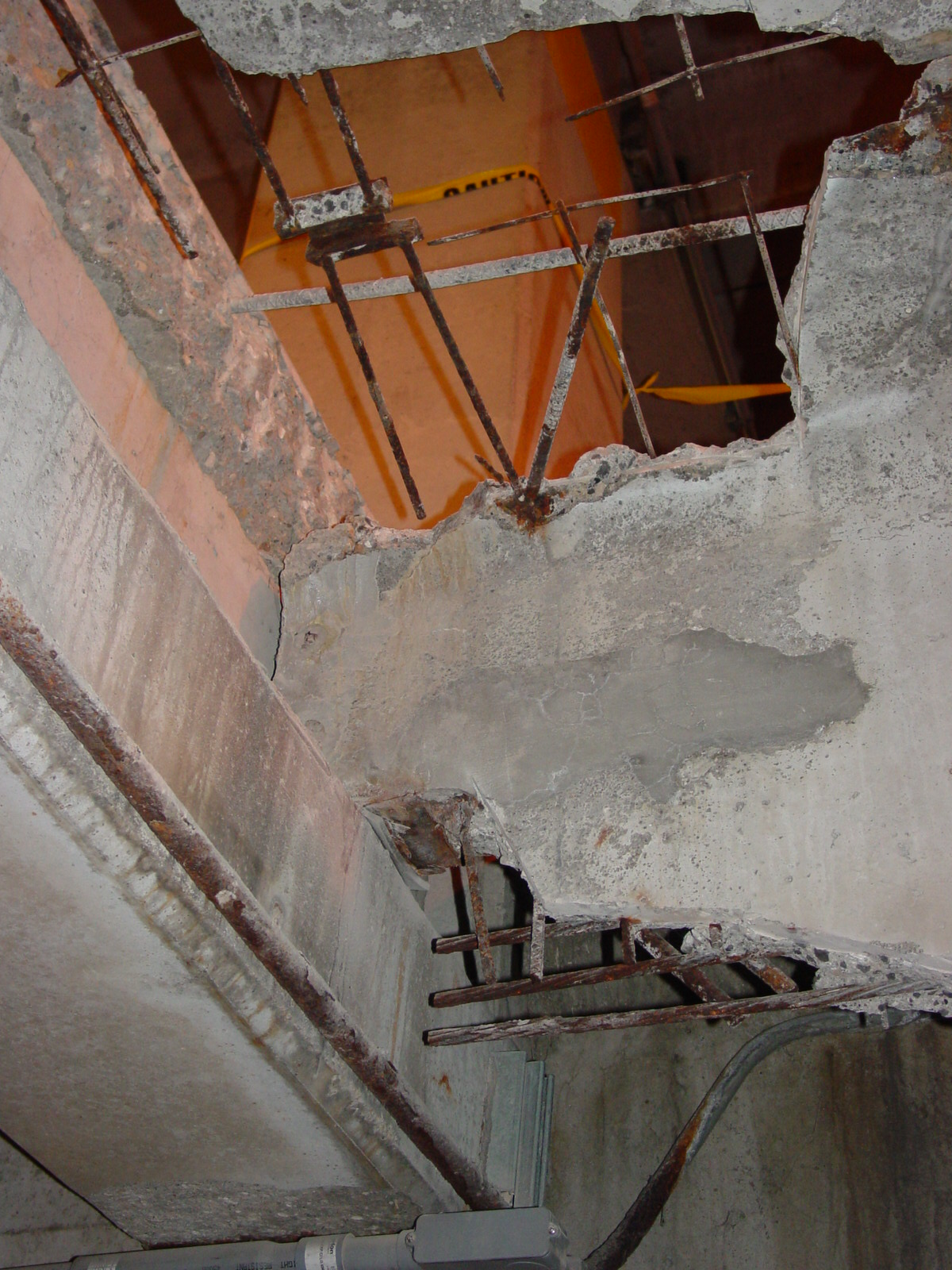 Before - Northwestern Avenue Parking Garage double tee deterioration (exposed during construction)