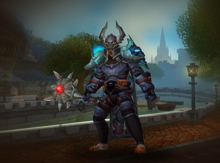 I transmogged my Paladin into a Death Knight