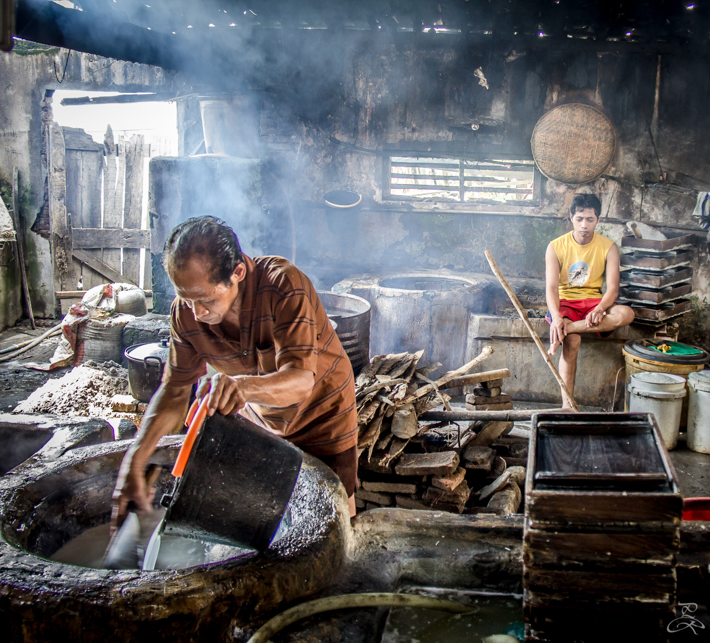 Tofu making near Karang, Java