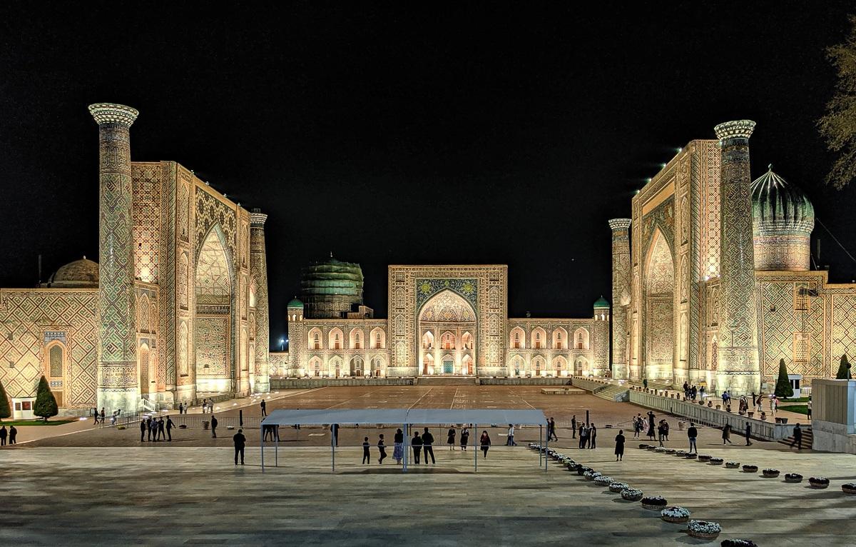 Samarkand, Uzbekistan. The Registan.