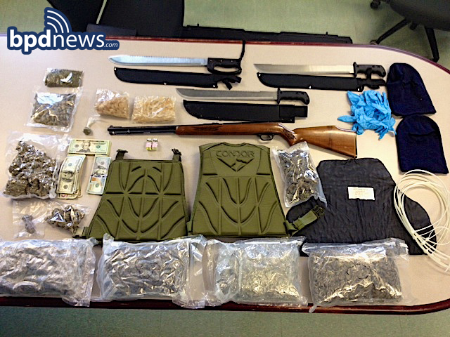 Police arrest 4, recover contraband