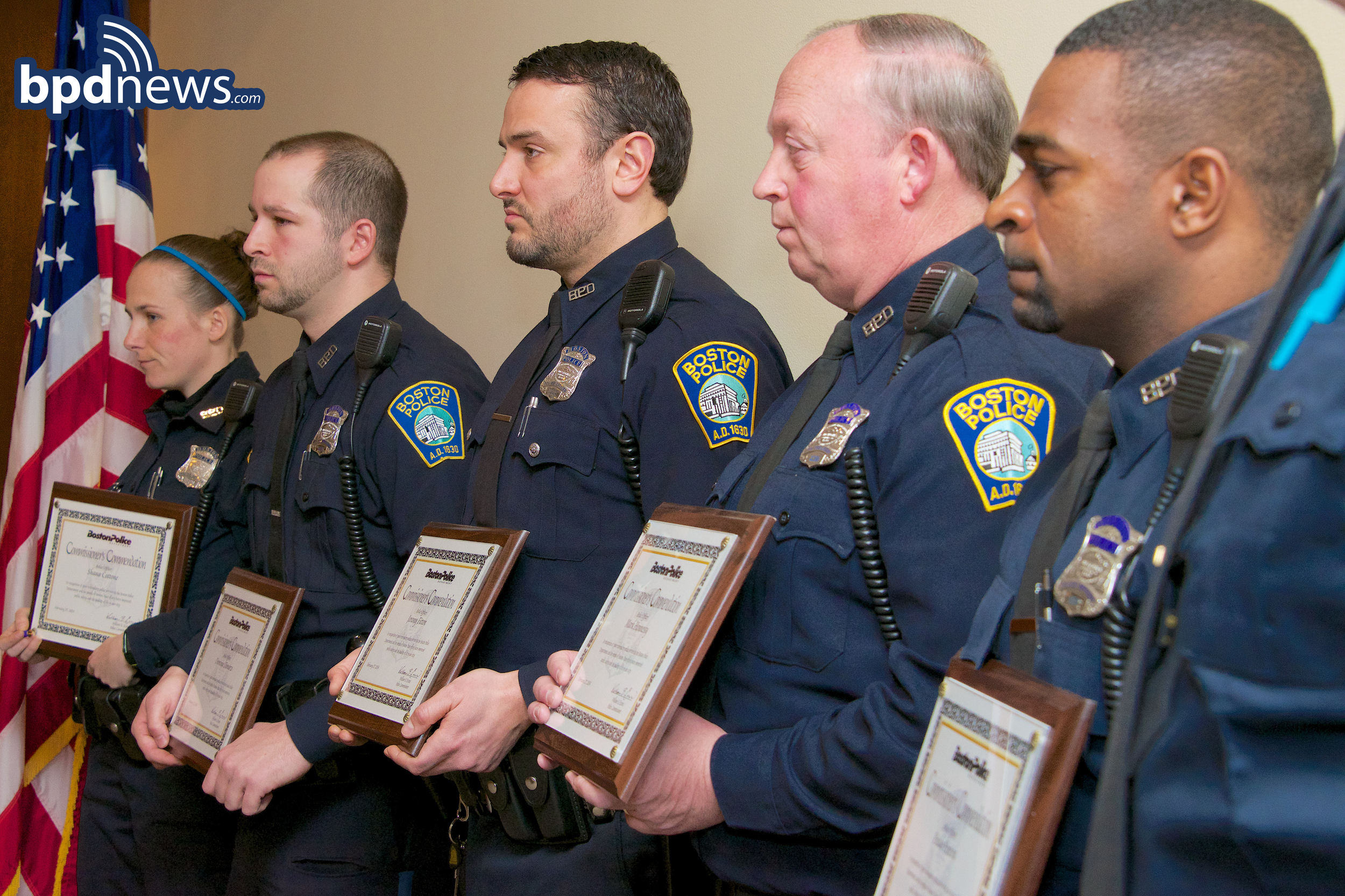 A-7 OFFICERS RECEIVING A COMMENDATION