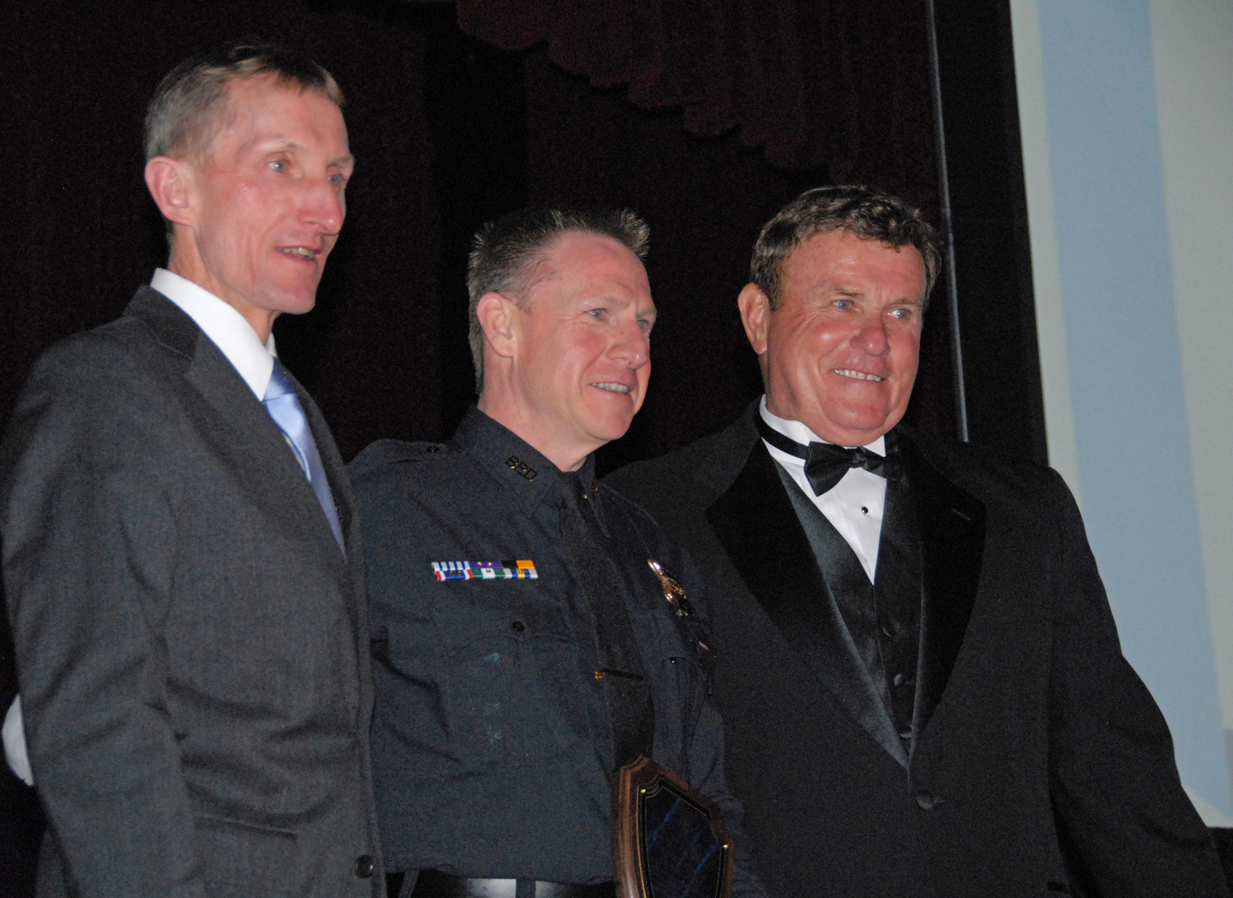 Commissioner William Evans, Sgt. Detective Dwan and President Bob Long (Photo courtesy of BPDNews)