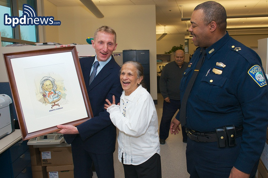 Commissioner Evans shares a laugh with Asmita Parekh