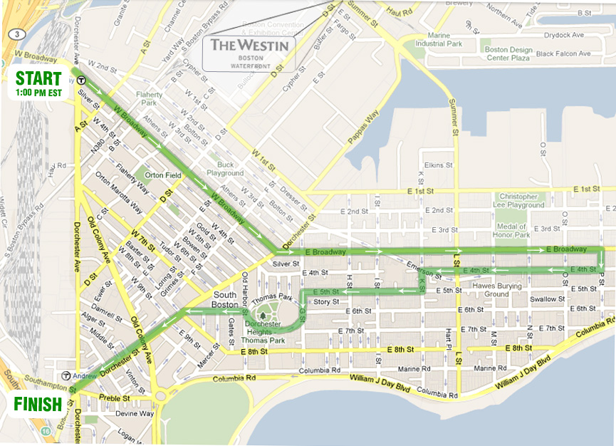Map courtesy of southbostonparade.org